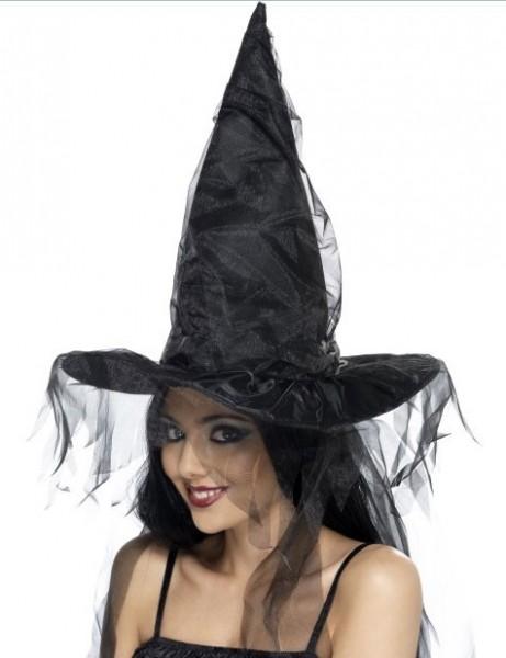 Halloween Hut Hexe Netzoptik Groß