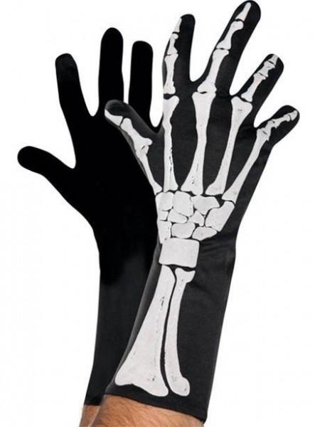 Skelett Handschuhe mit 3D-Effekt