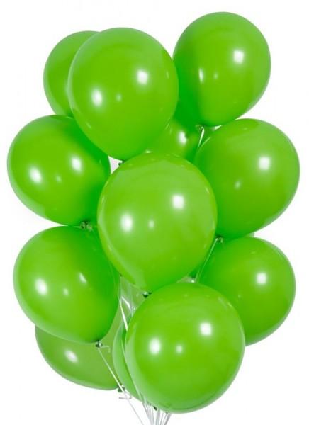 30 ballons en vert 23cm