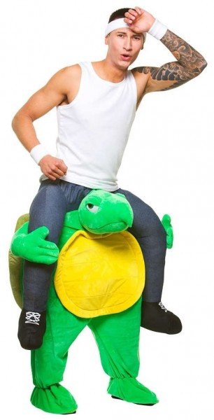 Angry Turtle-piggyback-kostuum