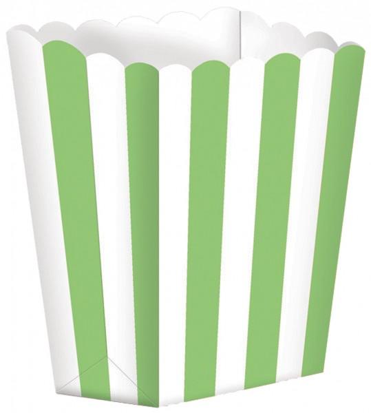 5 Candy Buffet Snack Boxen hellgrün