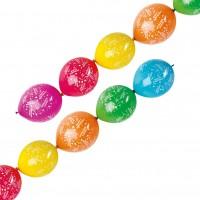 6 Geburtstagsgirlanden-Luftballons 27,5cm