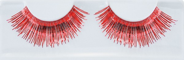 Rote Metallic Wimpern