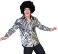 70er Glamour Disco Rüschenhemd