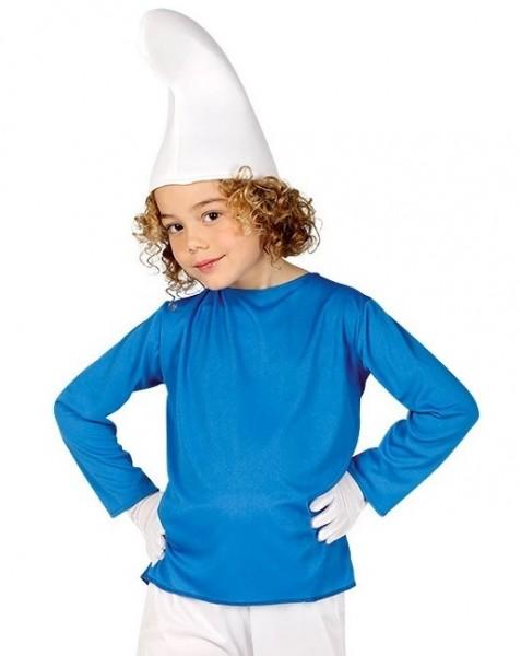 Blau-Weißes Zwergenkostüm für Kinder