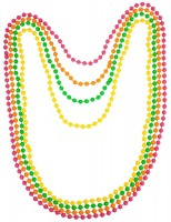 Bunte Perlenketten 4er-Set