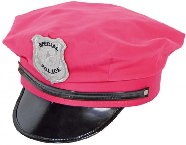 Girlie Polizei Mütze Pink Für Damen