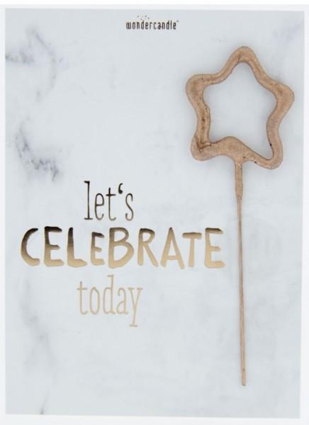 Celebra hoy la tarjeta mágica de mármol