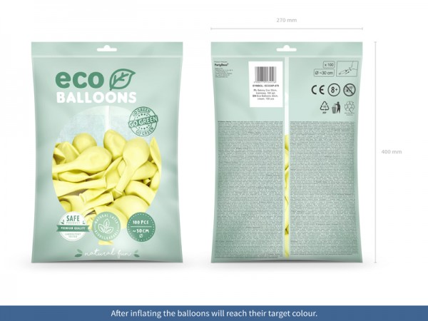100 Eco Pastell Ballons creme 30cm