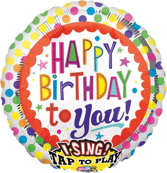 Urodzinowy balon w kropki z dźwiękiem