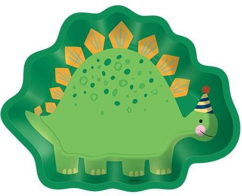 Assiette en carton 8 figurines Dino Mania 23cm