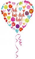 Herzballon Ich hab dich lieb 43cm