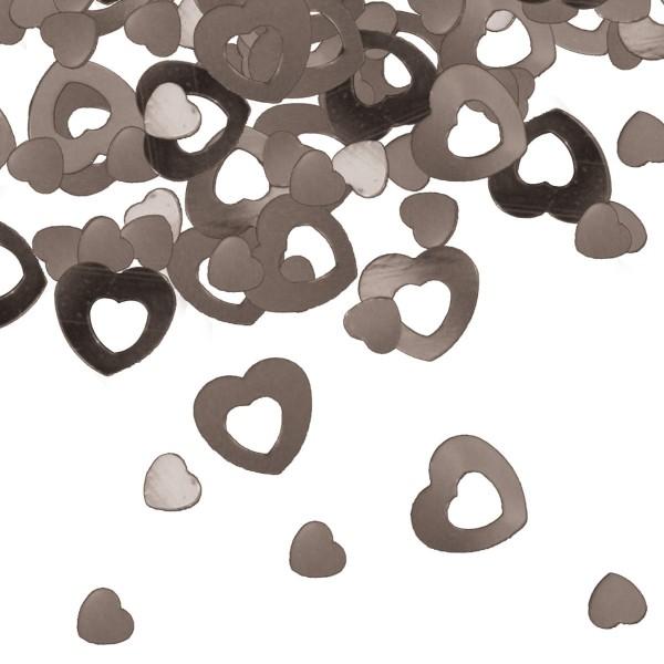 15g espolvorear decoración corazones plata