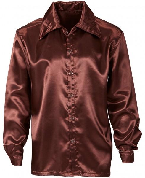 Camisa clásica de Bruce disco en marrón