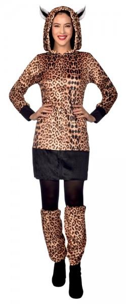 Costume léopard Katja avec capuche