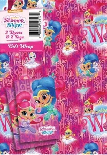 2 Shimmer & Shine Wishes gift wrapping sheets