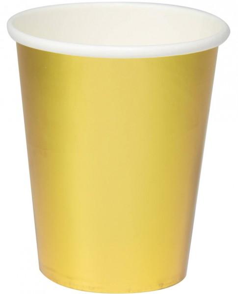 8 Złoty Metaliczny Kubek 350 ml