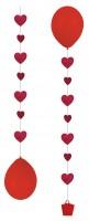 3 Romantische Ballon Herzanhänger 1m