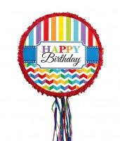 Rainbow Birthday Zugpinata 45cm