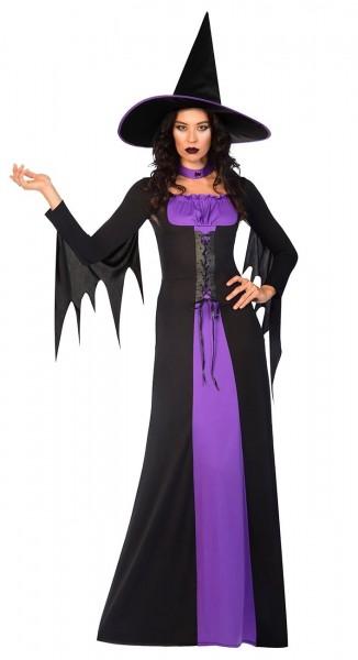 Classico costume da strega viola-nero