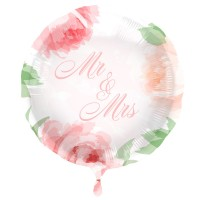 Folienballon Mr and Mrs Roses 45cm
