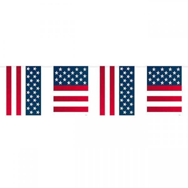 Chaîne de fanions USA Party avec 15 fanions 10m