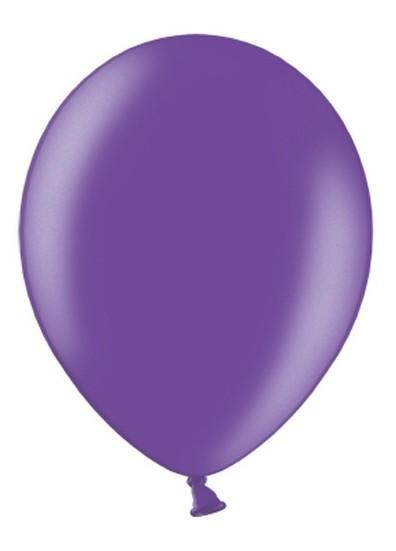 10 Ballons Metallic Lila 30 cm 1