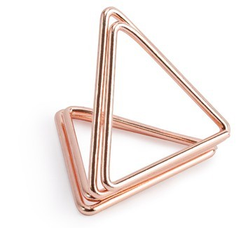 10 triangle card holders rose gold