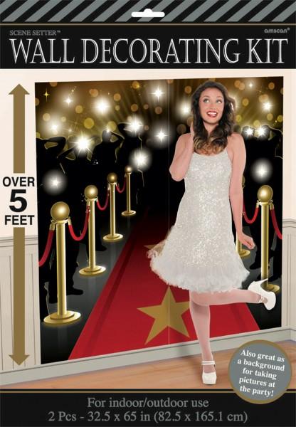 Hollywood Wandkulisse Glanzvolle Premierenfeier