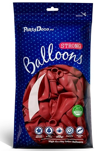 100 party star balloons red 27cm