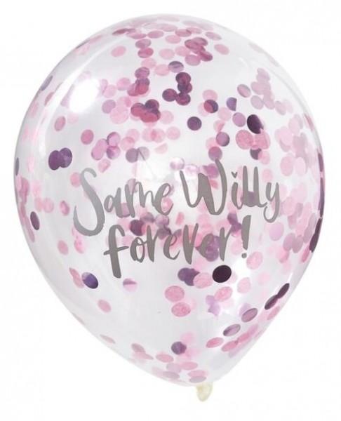 5 Bride Tribe Same Willy Luftballons 30cm
