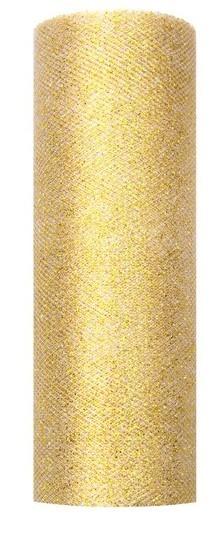 Tüll-Stoff auf Rolle gold 0,15 x 9m 1