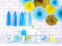 Vorschau: 6 Candy Party Pappteller pastellblau 18cm