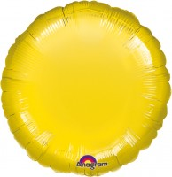 Folienballon in Gelb rund