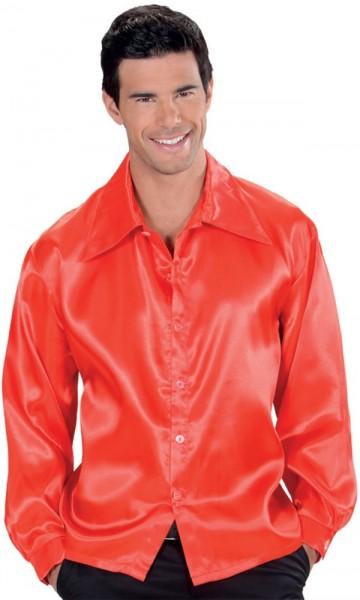 Camisa hombre raso rojo