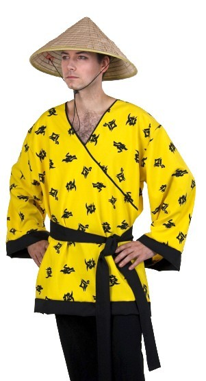 Yellow Chinese Shirt With Belt