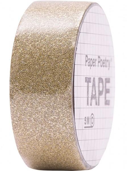 Goldenes Glitzer Washi Tape 5m