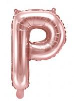 Folienballon P roségold 35cm