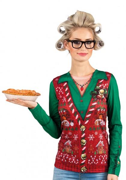 Camisa Carola 3D con motivos navideños