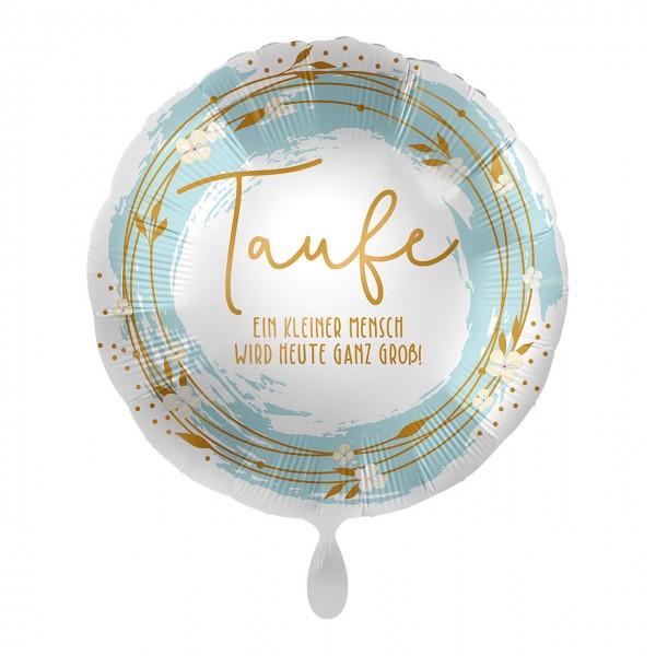 Folienballon Taufe türkis-gold 43cm