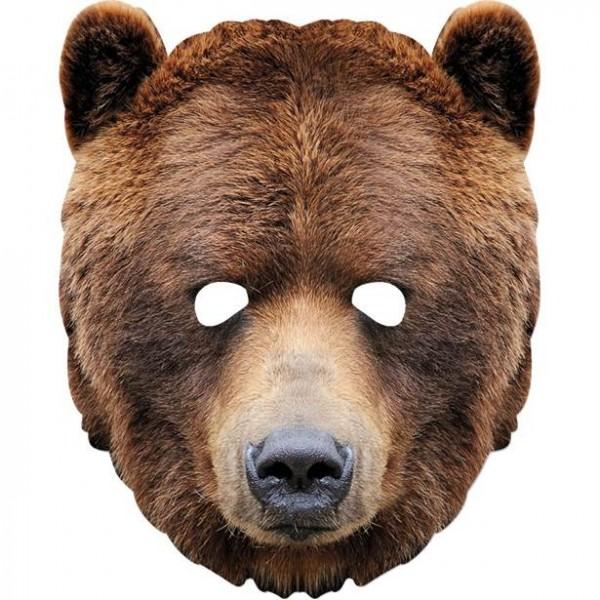 Masque en carton ours