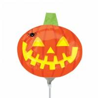 Stabballon Halloween Kürbis mit Spinne
