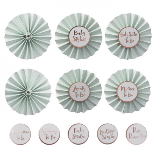 6 botones de hola mundo DIY 8cm