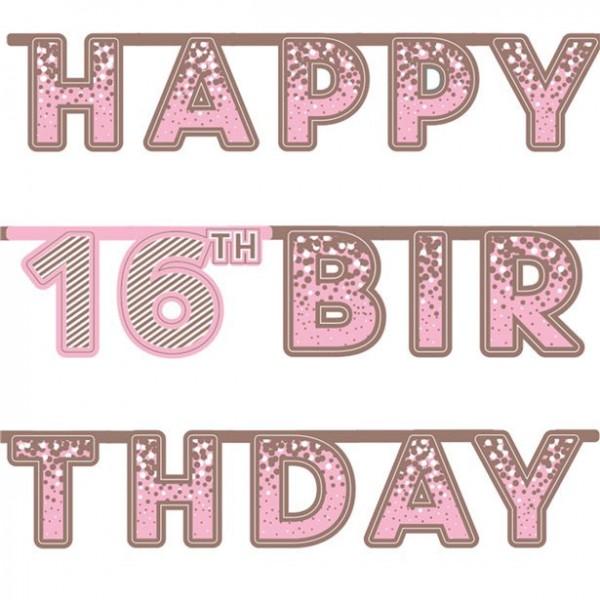 16. Geburtstag Happy Pink Girlade