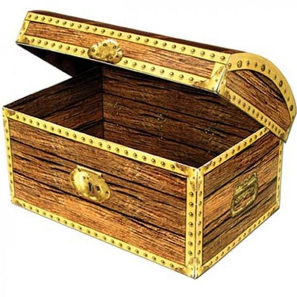 Coffret cadeau coffre au trésor pirate 30cm