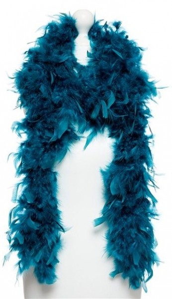 Feather boa Alina petrol 1,8m