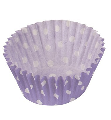 Dots fun purple muffin molds 25 pack