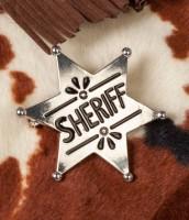Silberner Sheriff Stern