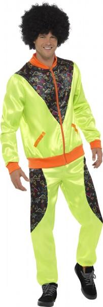 Etching jogging suit neon yellow for men
