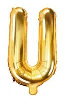 Folienballon U gold 35cm